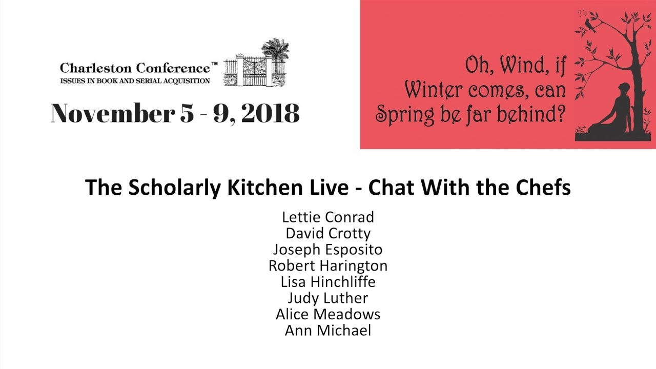 The Scholarly Kitchen Live Chat With The Chefs