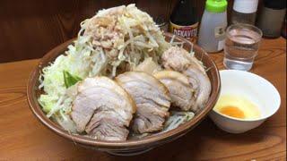 大食い→二郎 亀戸店ブタ入り大ラーメン麺増し大全マシマシ食べた。 thumbnail