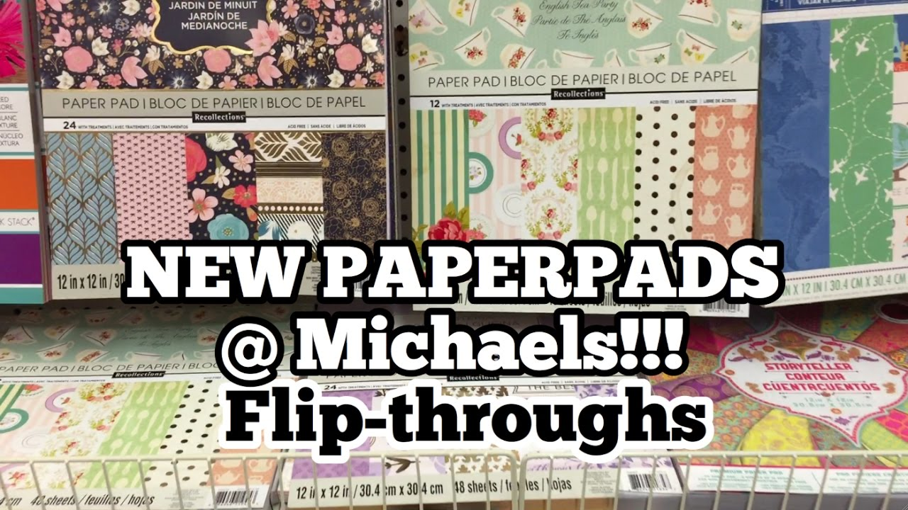 New Paper Pads At Michaels Shop With Me Im A Cool Mom Youtube