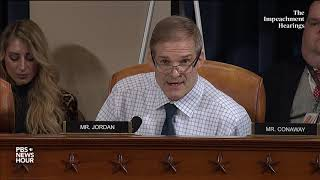 WATCH: Rep. Jim Jordan speaks during testimony by Hill and Holmes | Trump impeachment hearings