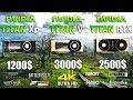 TITAN RTX vs TITAN V vs TITAN Xp Test in 8 Games 4K