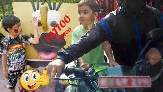 SAM GOT A TATTOO! Family Fun Kids Activities!! Walking street in Thamel !!
