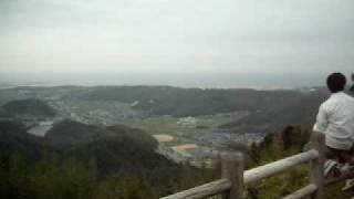 桜咲く鳥取城 久松山頂から日本海など パノラマ 鳥取城 検索動画 25
