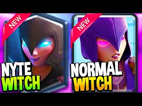Clash Royale Season 4 New WITCH and NYTE WITCH Decks!!