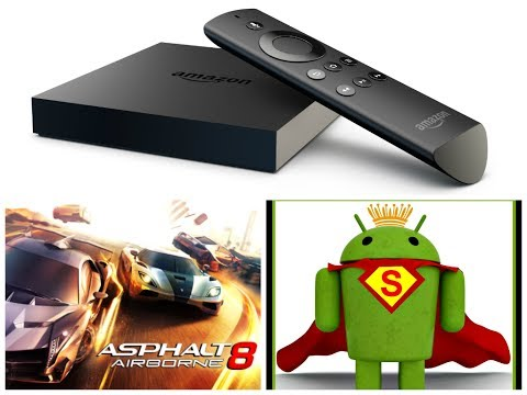 AMAZON FIRE TV PLAYING ASPHALT 8 WITH XBOX 360 CONTROLLER