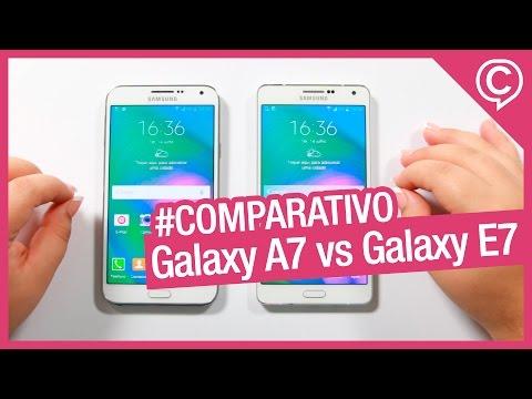 Galaxy A7 vs Galaxy E7 - Comparativo entre os tops das linhas