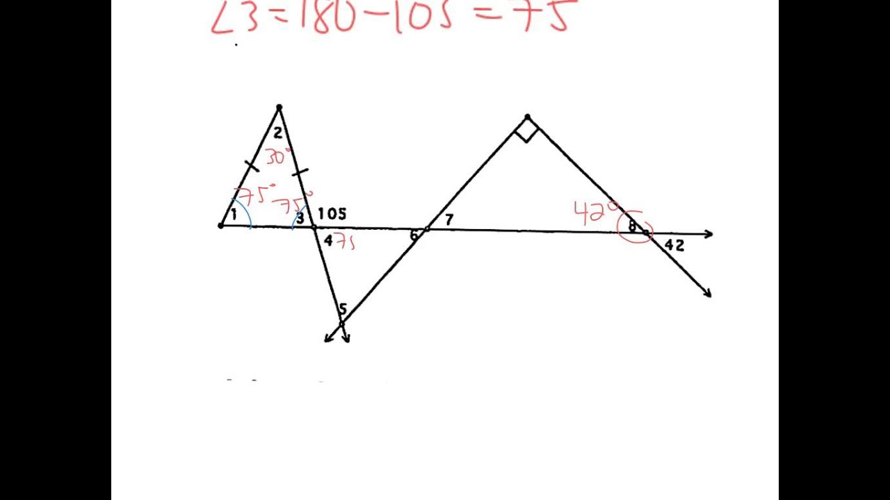 worksheet Isosceles Triangles Worksheet 4 7 use isosceles and equilateral triangles youtube