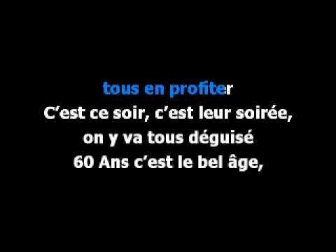 parodie chanson 60 ans anniversaire