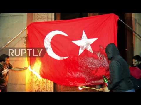 Armenia: Turkish flag burns as tens of thousands commemorate Armenian massacre