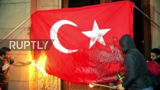 فيديو| حرق علم تركيا في مظاهرات أرمينيا