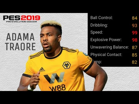 Adama Traore 100 Cheap Scouts Combination Silver Ball Rwf Speed 99 Potential Player Pes 2019 Mobile Youtube
