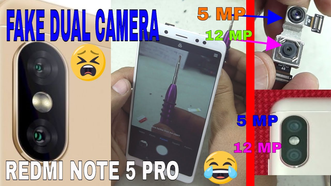 📲📷😜Redmi Note 5 Pro Fake Dual Camera HARDWARE Test 😂❗❗