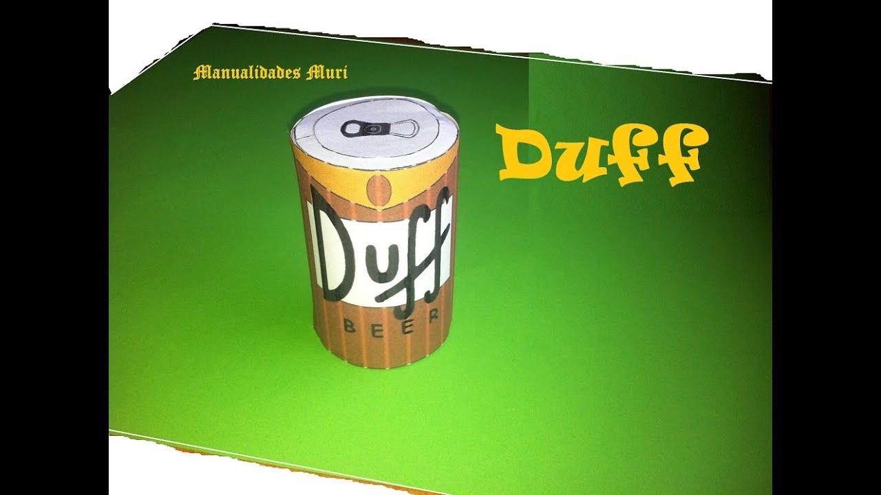 Manualidades, Paper Toys, Duff Cerveza De Los Simpson