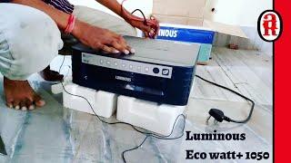 Luminous 1050 Eco Watt + inverter (Home Ups) Unboxing