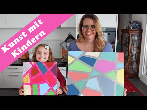 Malen mit Kindern – eine einfache Technik mit Acrylfarben