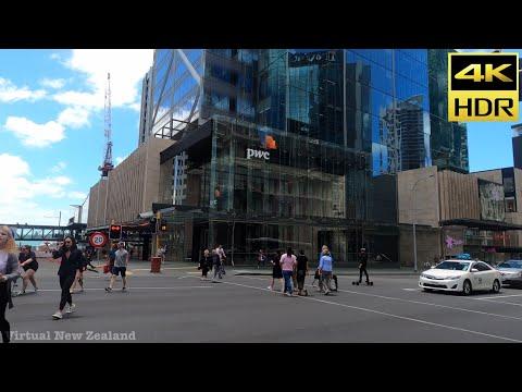 【4K HDR】Walking Tour Auckland City New Zealand!