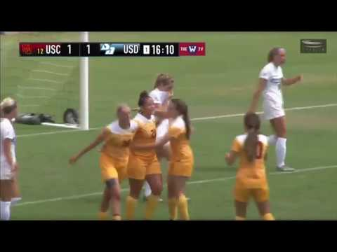 Women's Soccer: USC 3, USD 1 - Highlights 9/17/17