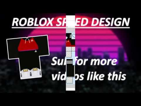 Roblox Speed Design Red Adidas Top With Black Hoodie Matching