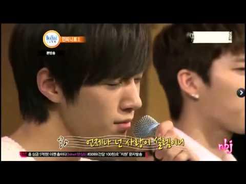 Infinite Woohyun and L Myungsoo sing Beatles