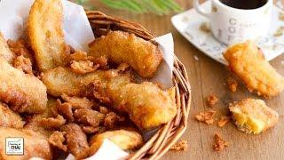 """Como se hace Plátano frito estilo Thai """"Kluay Tod"""" (กล้วยทอด)"""