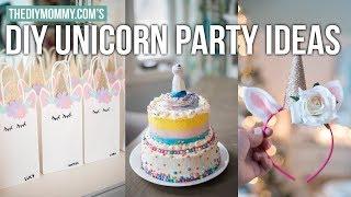 DIY UNICORN PARTY IDEAS | Party Bag - Cake Hack - Unicorn Headband | The DIY Mommy