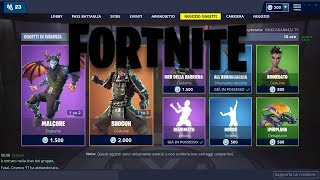 'SHOP' JANUARY 28/01 NEW SKIN DRAGO MALCORE -SKIN SHOGUN! FORTNITE NEGOZIO DAILY