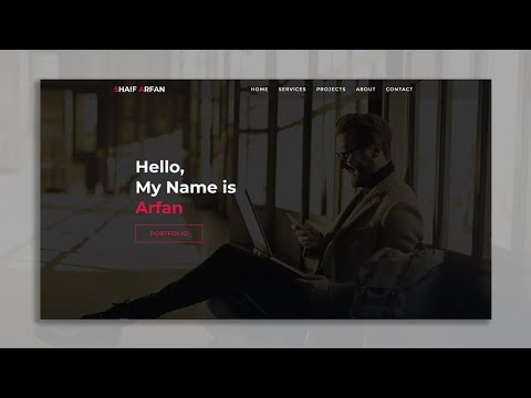 One Page Full Website Project For Practice | HTML & CSS Responsive Website | Web Cifar 2020