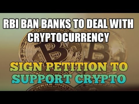 RBI BAN Bitcoin - RBI Ban Regulated Banks & Entities From Dealing In Crypto - #isupportcrypto
