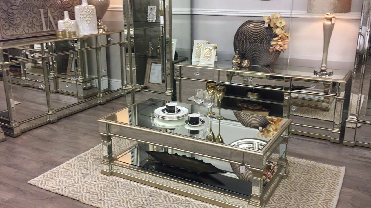 Athens Mirrored Living Room Furniture