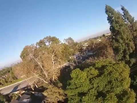 Drone eye perspective of Garden Grove.