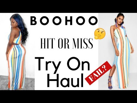 BOOHOO TRY ON HAUL - HIT 👍OR MISS👎 PANTS, SKIRTS, DRESSES & SHIRTS