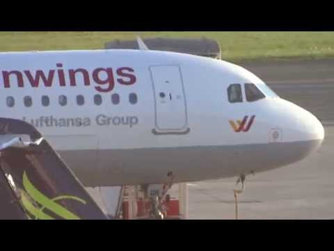 D-AIQR Germanwings Airbus A320 parking at Hamburg