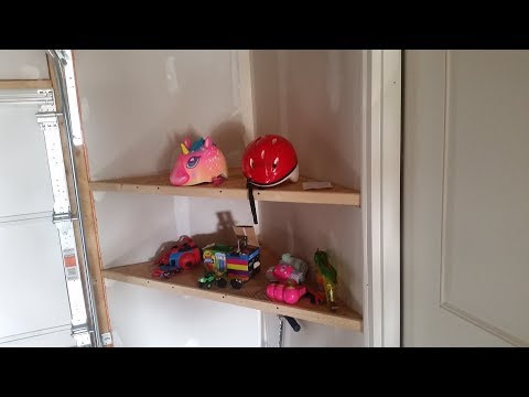 Building the cheapest garage corner shelves DIY
