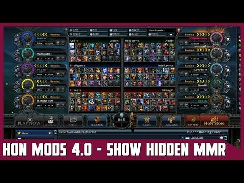 HON MODS 4.0 - Show Hidden MMR [In All Modes] (.honmod)