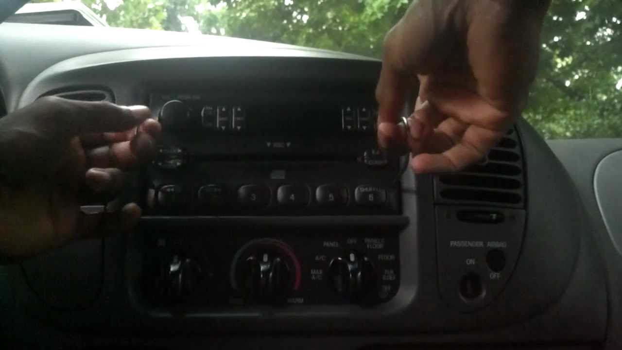 how to remove the radio from a 2000 ford f150
