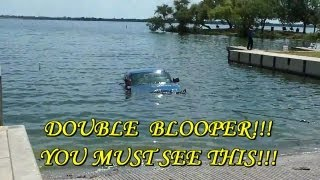 Funny Boat Launch Blooper, Fail, Friday the 13th,  Sunken Chevy 4x4 OWNED!!!