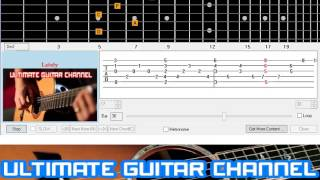 [Guitar Solo Tab] Lately (Stevie Wonder)