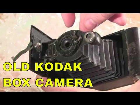 antique kodak box camera unboxing: 1910