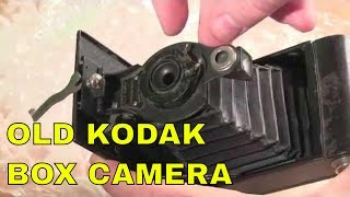 antique kodak box camera unboxing: 1910