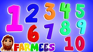 Learn Numbers | Count Numbers | 1 to 10 | ABC Song | Alphabet A to Z | Kids Learning Video | Farmees