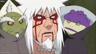 قتال جيرايا ضد باين كامل ومترجم موت جيرايا أكثر لحظة مؤثرة في ناروتو ناروتو شيبودن HD