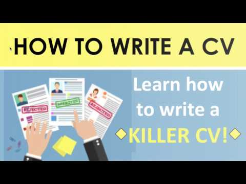 How to Write a CV for a Job Application - CV Writing (Resumes)