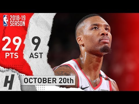Damian Lillard Full Highlights Blazers vs Spurs 2018.10.20 - 29 Pts, 9 Ast, SICK!