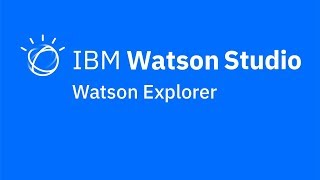 Video thumbnail for Watson Explorer integration in IBM Watson Studio