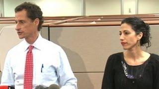 Anthony Weiner and Wife, Huma Abedin, Address the Public