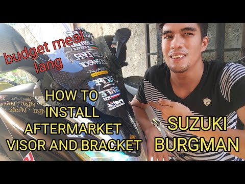 SUZUKI BURGMAN/ HOW TO INSTALL AFTERMARKET VISOR AND SIDE MIRROR/ LOW COST 👌