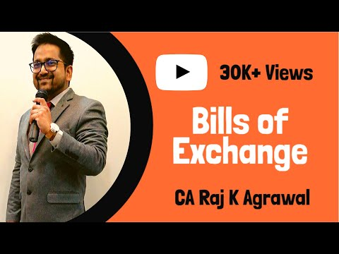 Bills of Exchange for CA CPT Accounting
