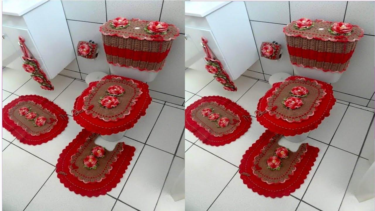 Fundas Para Ba Os Tejidos A Crochet Variados Modelos N 04