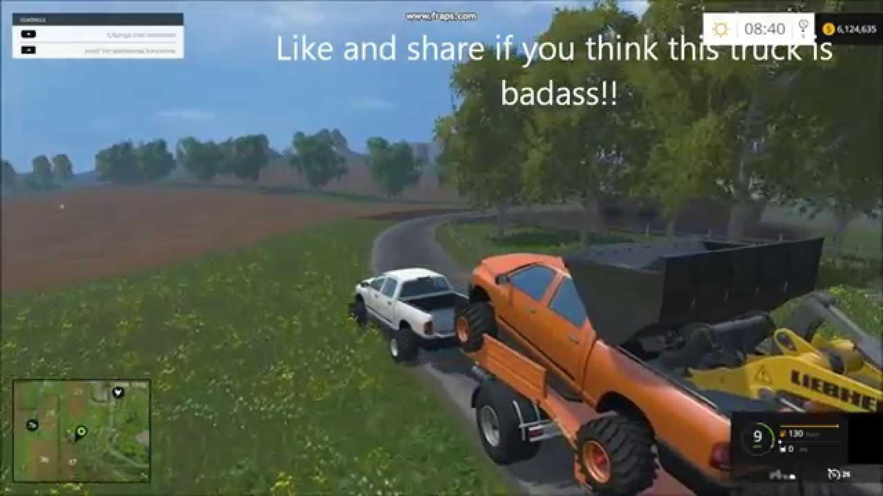 Farming Simulator 2015 Dodge Cummins Big Tires And Rolling