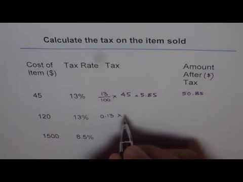 Find Sales Tax And Total Amount